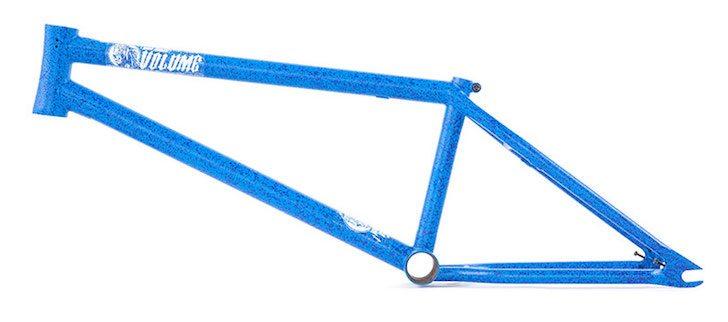 volume-bikes-war-horse-thunder-blue-bmx-frame-side