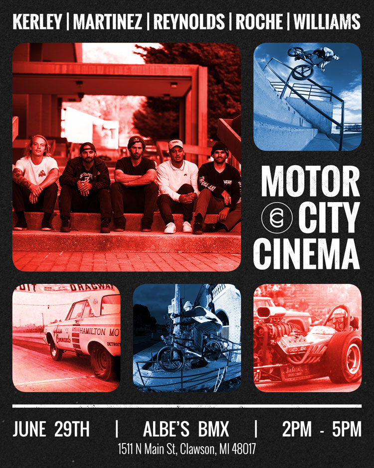 Cinema BMX Motor City Cinema Flyer