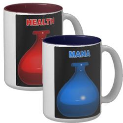 Health and Mana Mugs