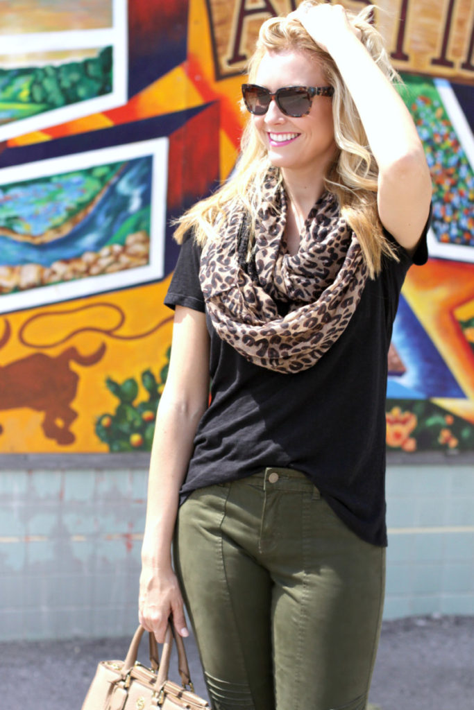 Leopard scarf everyday look