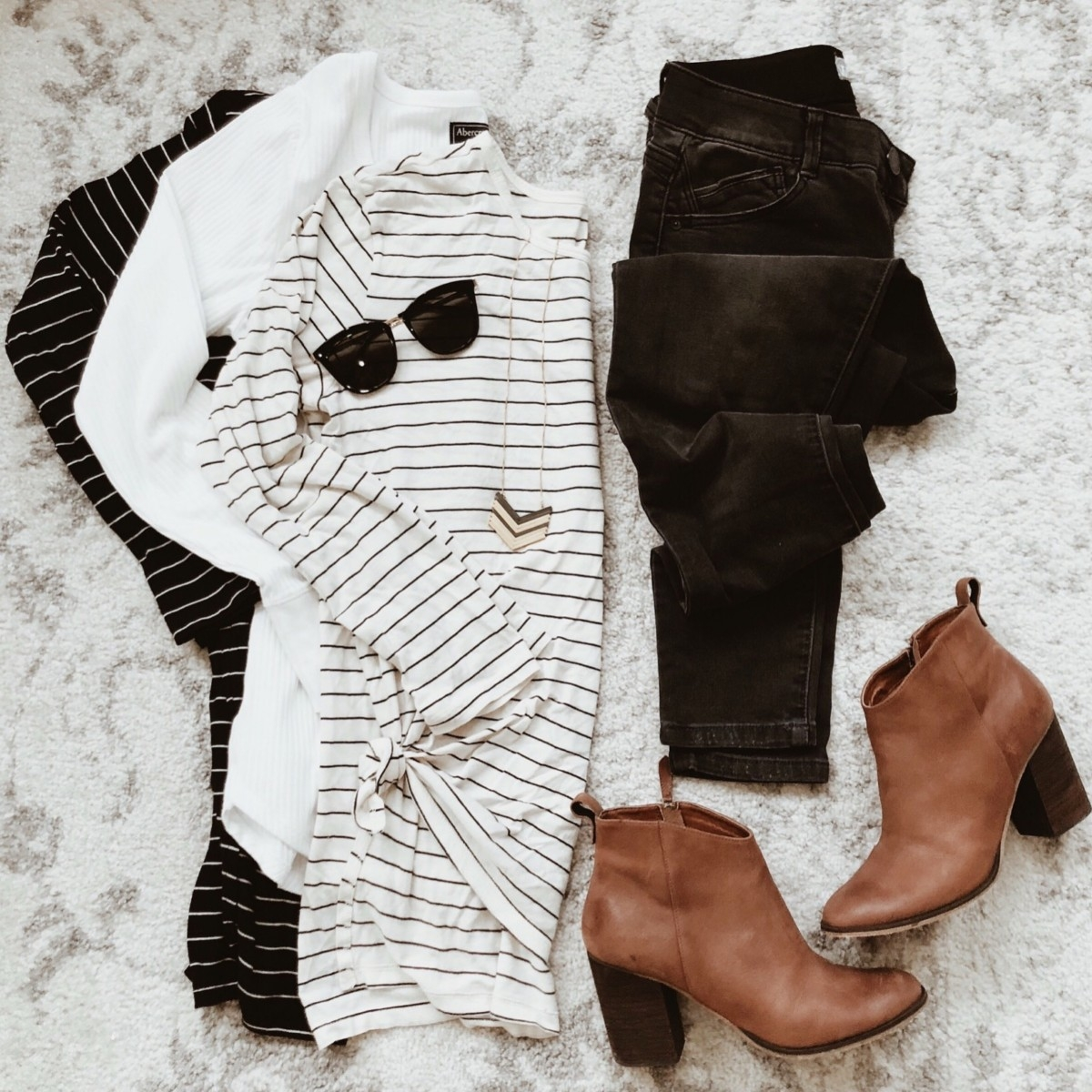 striped long sleeve top | Instagram | Amazon | Nordstrom | Madewell | Hunters | Gucci | Chanel | Fall Fashion: Instagram Roundup featured by top Houston fashion blog Haute & Humid
