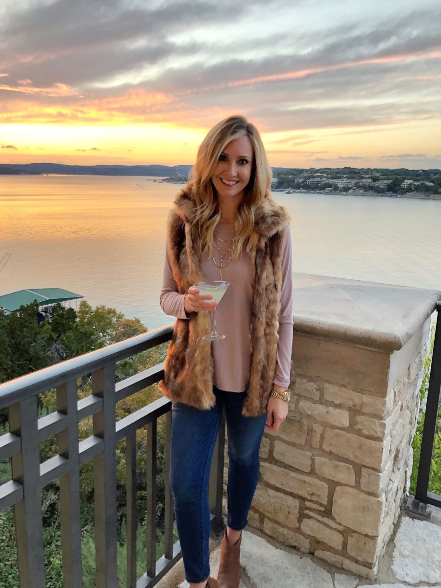faux fur vest | Nordstrom | Vacation | Lifestyle | Winter Staycation at the Austin Lakeway Resort and Spa featured by top Houston travel blog Haute & Humid
