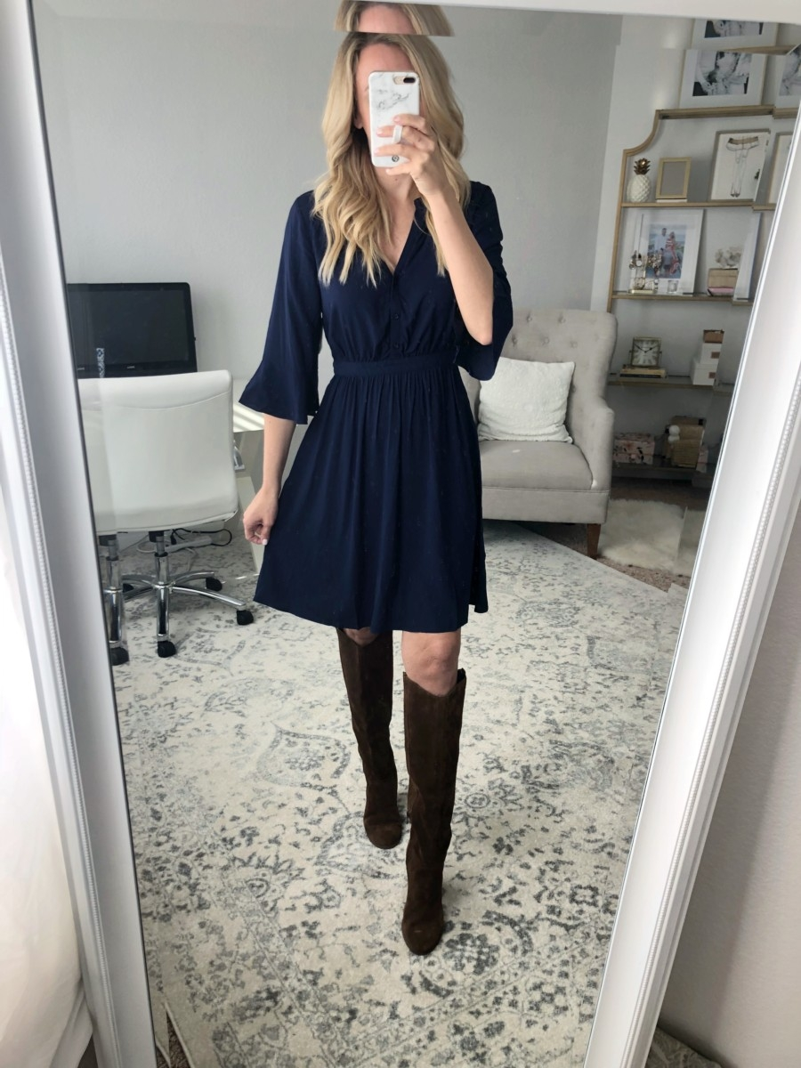 navy dress | Old Navy Fall Favorites Sale Round Up featured by top Houston fashion blog Haute & Humid
