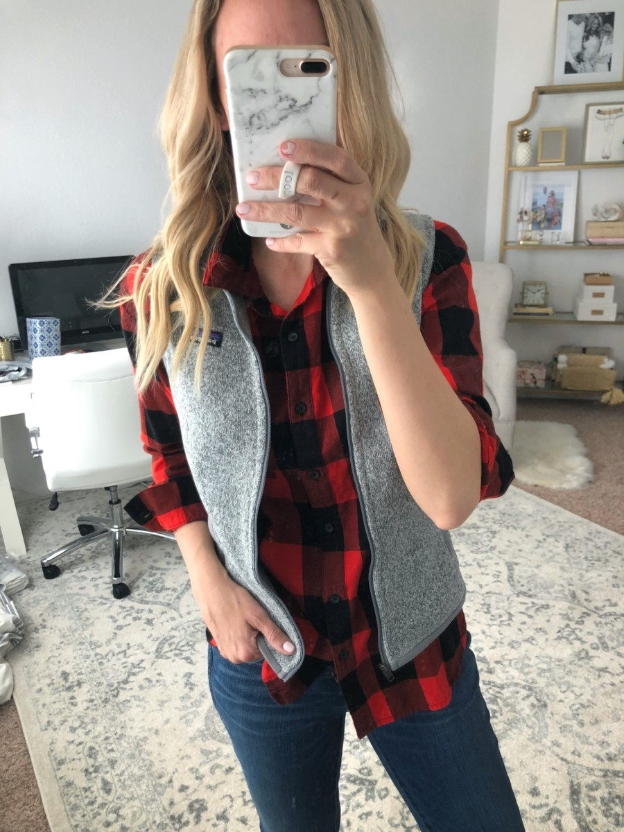 plaid top | Old Navy Fall Favorites Sale Round Up featured by top Houston fashion blog Haute & Humid