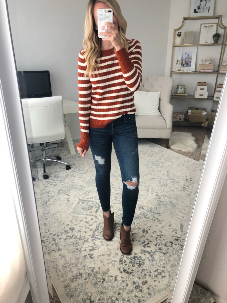 striped sweater | Old Navy Fall Favorites Sale Round Up featured by top Houston fashion blog Haute & Humid