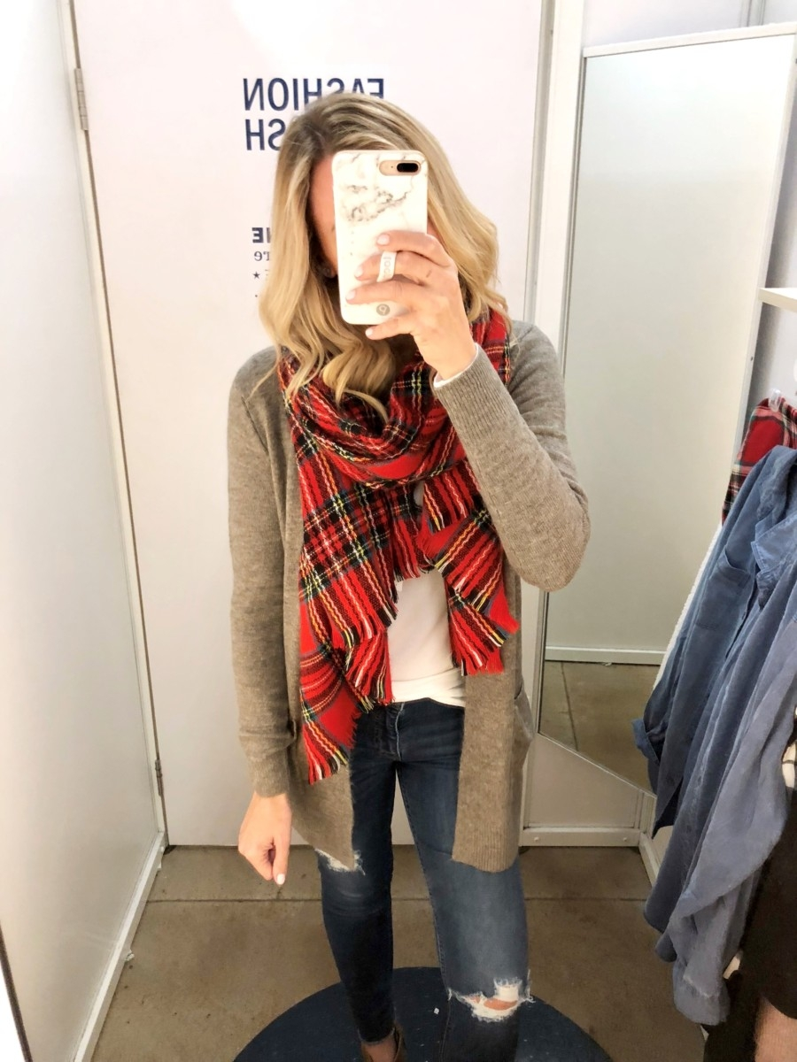 tartan scarf | Old Navy Fall Favorites Sale Round Up featured by top Houston fashion blog Haute & Humid