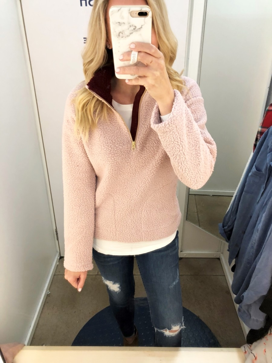 sherpa pullover | Old Navy Fall Favorites Sale Round Up featured by top Houston fashion blog Haute & Humid