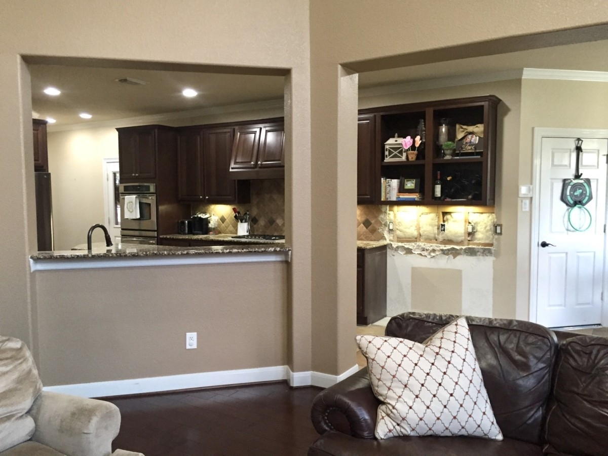 kitchen remodel | Living Room Makeover by popular Houston lifestyle blog, Haute and Humid: image of a demoed kitchen.
