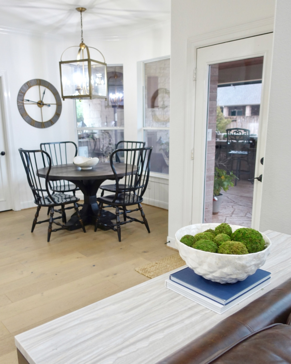 kitchen remodel   Living Room Makeover by popular Houston lifestyle blog, Haute and Humid: image of a remodeled kitchen.