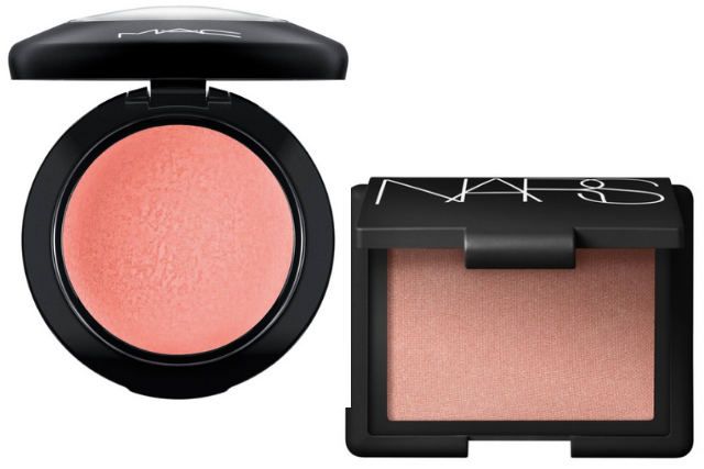 spring makeup routine   Nordstrom Makeup by popular Houston beauty blog, Haute and Humid: image of Mac Hey Coral Hey blush and Nars Orgasm blush.