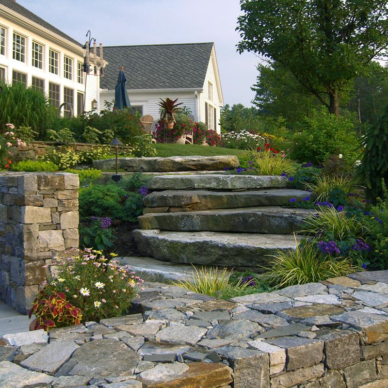 Alford – oversize cascading granite garden steps