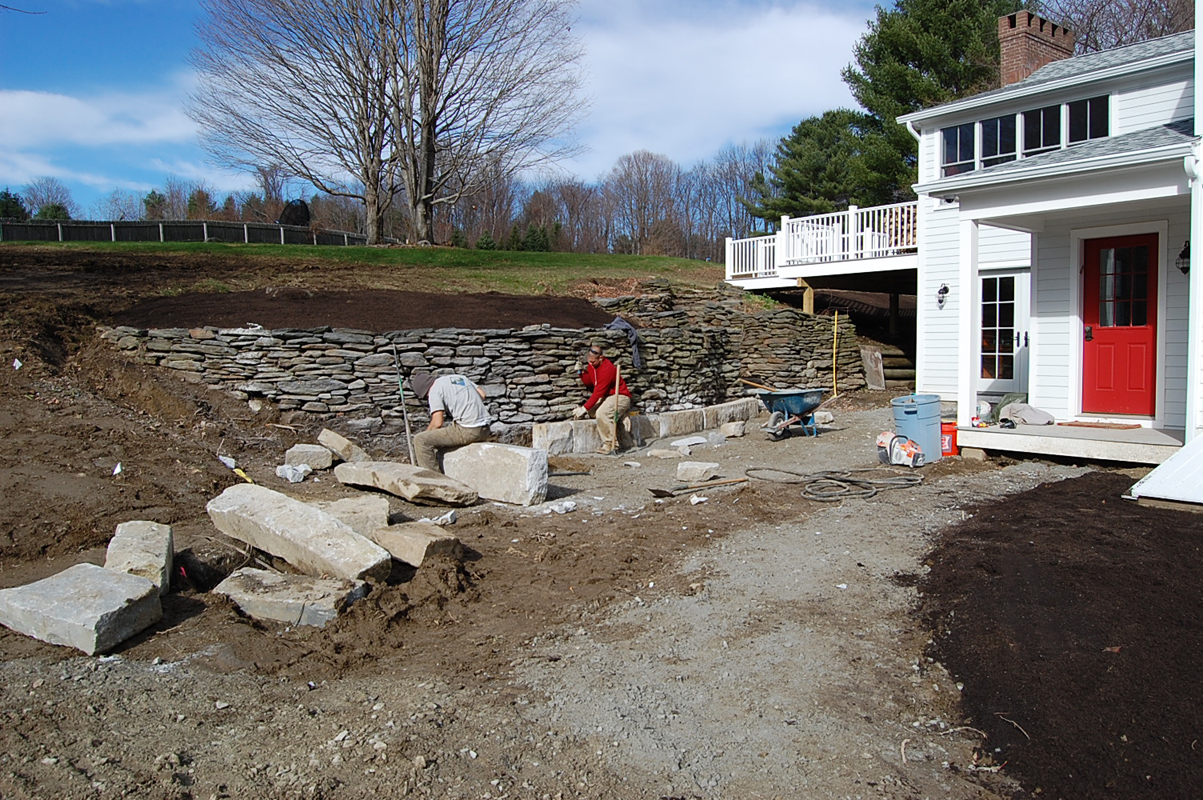Richmond – recycled granite curb installation