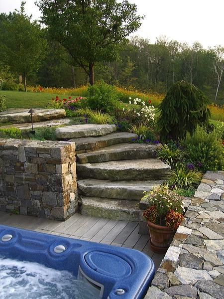 Alford – stone hot tub enclosure