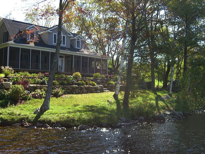 Otis  – new house and terraced gardens on Otis Resevoir