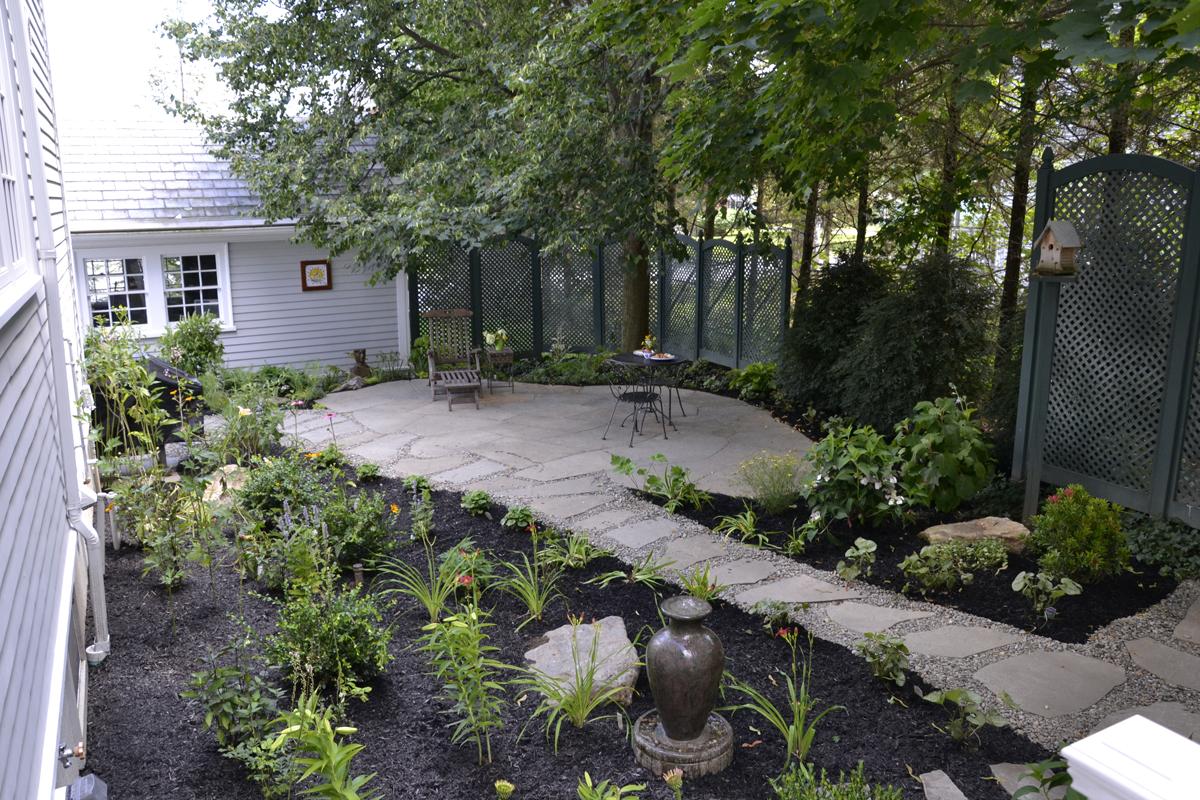 3_Williamstown in Town secret garden from kitchen window