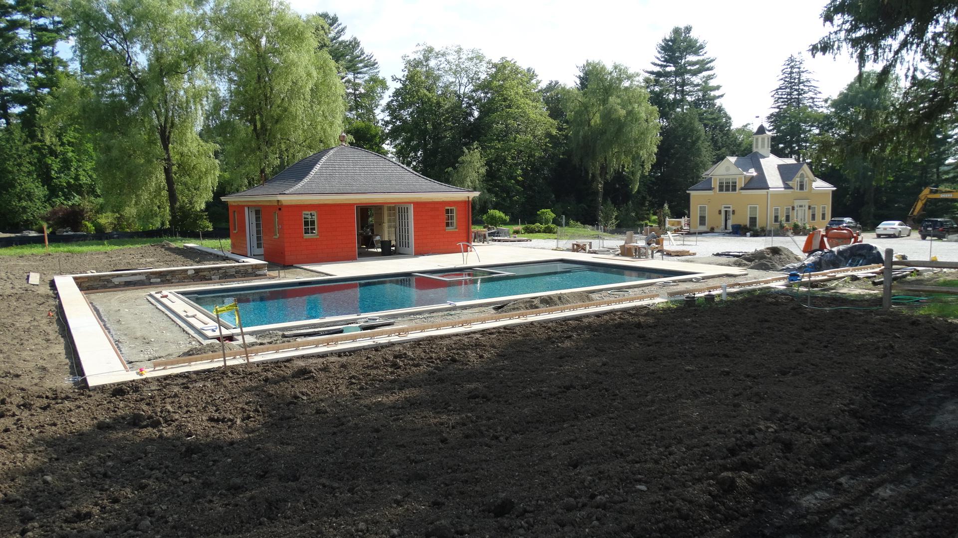 Linden Brook Farm pool under construction 25′ x 50′