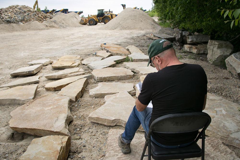 2018-Champlain-Stone_Fort-Ann-NY-South-Bay-Quartzite-quarry-individual-stone-selection-3