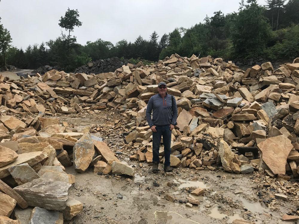 2018-Champlain-Stone_Fort-Ann-NY-South-Bay-Quartzite-quarry-individual-stone-selection