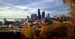 Let the Holidays Begin! Seattle in the Fall, view from the South.