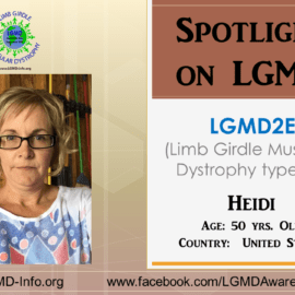 INDIVIDUAL WITH LGMD:  Heidi