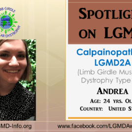 INDIVIDUAL WITH LGMD:  Andrea