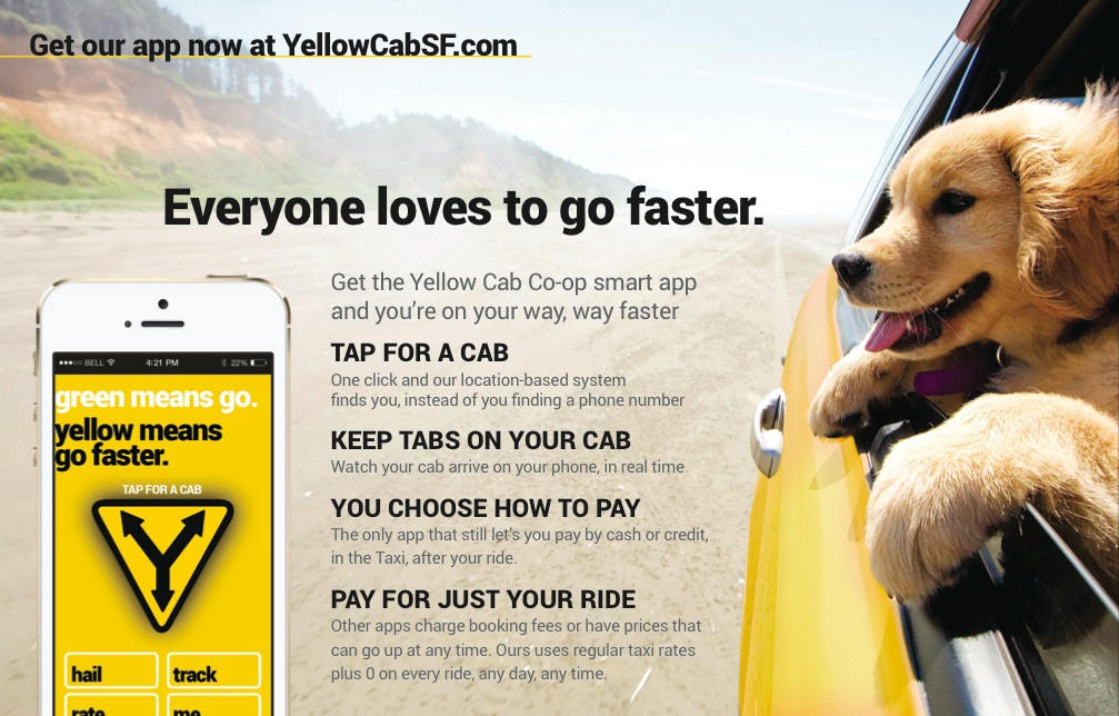SF Yellow Cab : Go Faster | Marin Advertising + Design