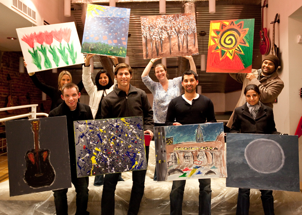 ArtJamz Corporate Group in Private Painting Events