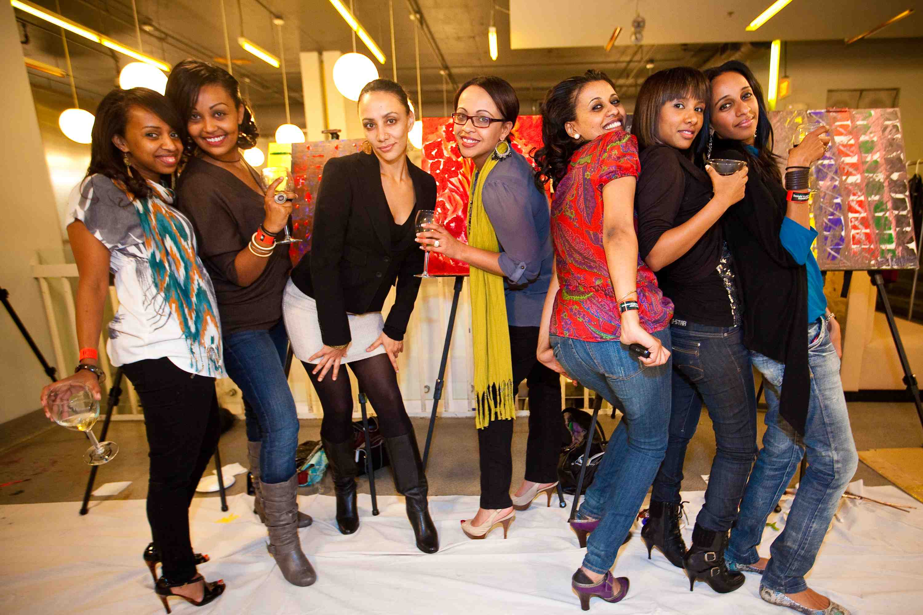 Paint and Sip Team Building Art Party Ideas and Office Party