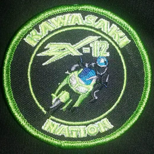Green Kawasaki Nation ZX12 Custom Patch