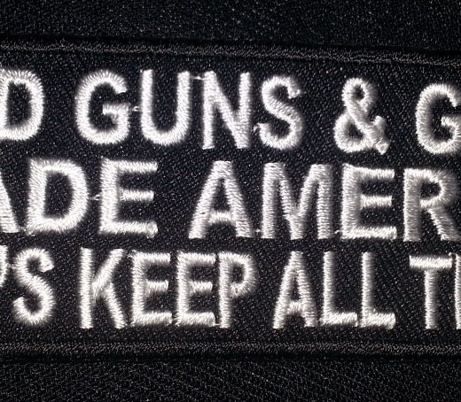 """God Guns & Guts…"" patch"