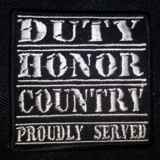 """Duty Honor Country Proudly Served"" patch"