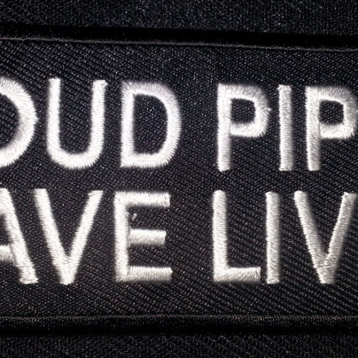 """""""Loud Pipes Saves Lives"""" patch"""