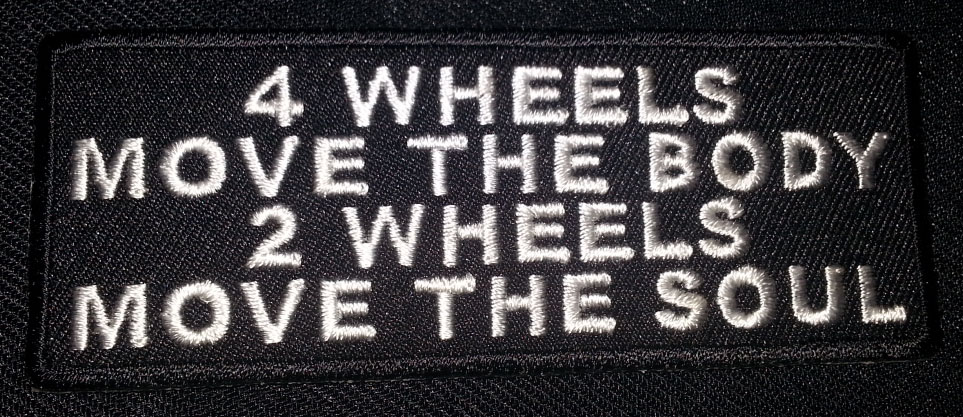 """""""4 Wheels Move The Body…"""" patch"""