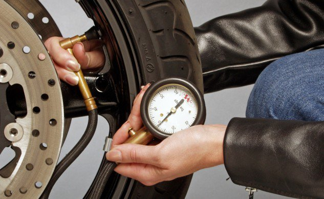 MOTORCYCLE TIRE PRESSURE