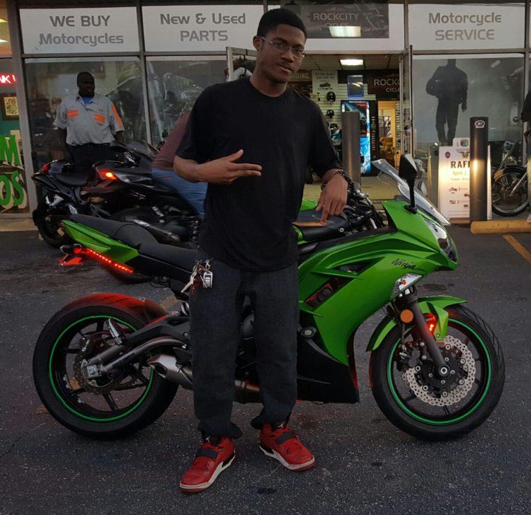 Camryn M With His 2012 Kawasaki Ninja Ex650 Rock City Cycles