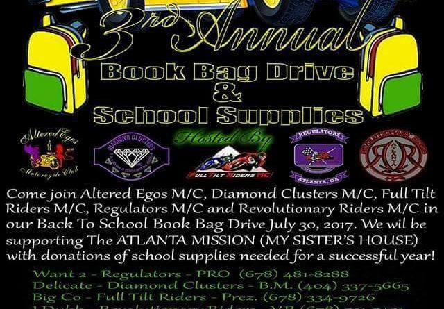 3rd Annual Book Bag Drive & School Supplies