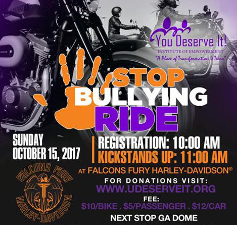 STOP BULLYING RIDE – Sun., 10/15/17