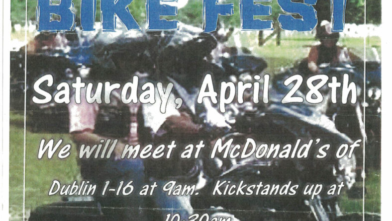 Mt. Moriah Baptist Church Bike Fest – Sat., April 28, 2018