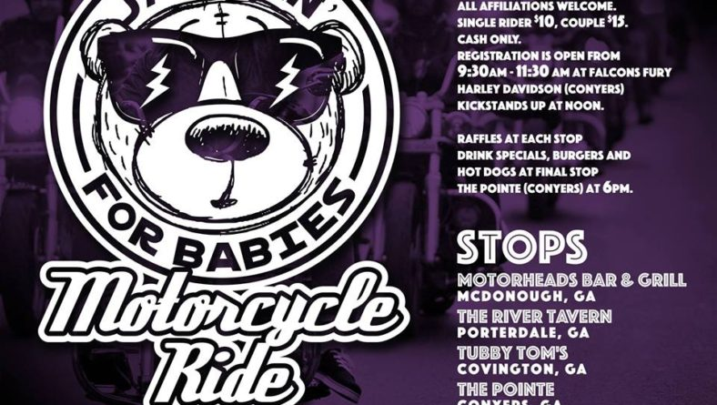 Annual Jammin For Babies Charity Motorcycle Ride sponsored by Rock City Cycles – 10/6/18