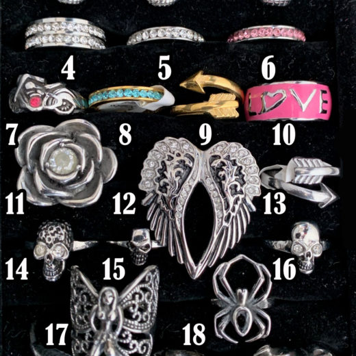 Rings (Size 6) – TRAY 1