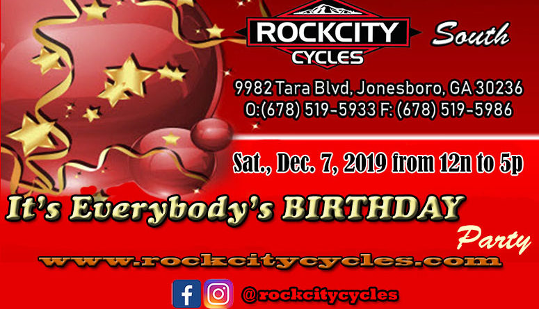 It's EVERYBODY's BIRTHDAY PARTY @ Rock City Cycles South – Sat., 12/7/19