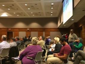 Manhattan redisdents gather to provide feedback on a possible rental inspection program. Staff Photo: Austin Barnes