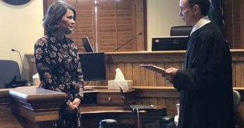 Lewison sworn in as first woman judge in 21st Judicial District