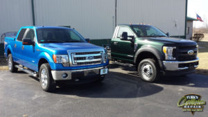 Ford F150 Collision Repair & Ford F450 Complete Paint Job Color Change!