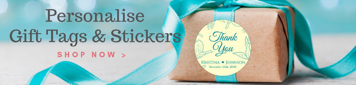 Personalise Gift Tags & Stickers Website Banner