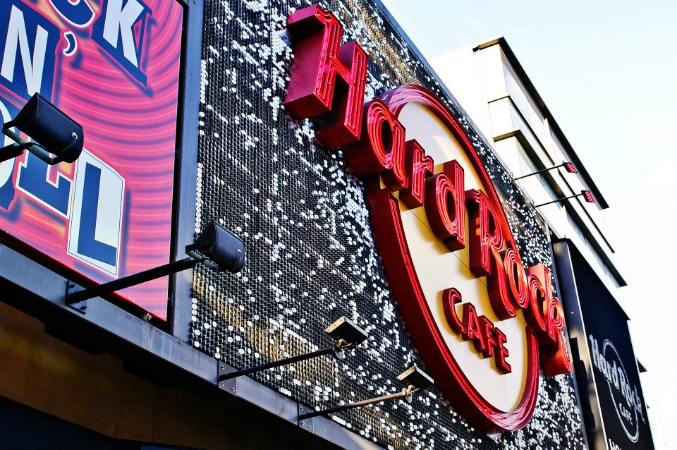 Hard Rock Cafe Los Angeles SolaRay Sign