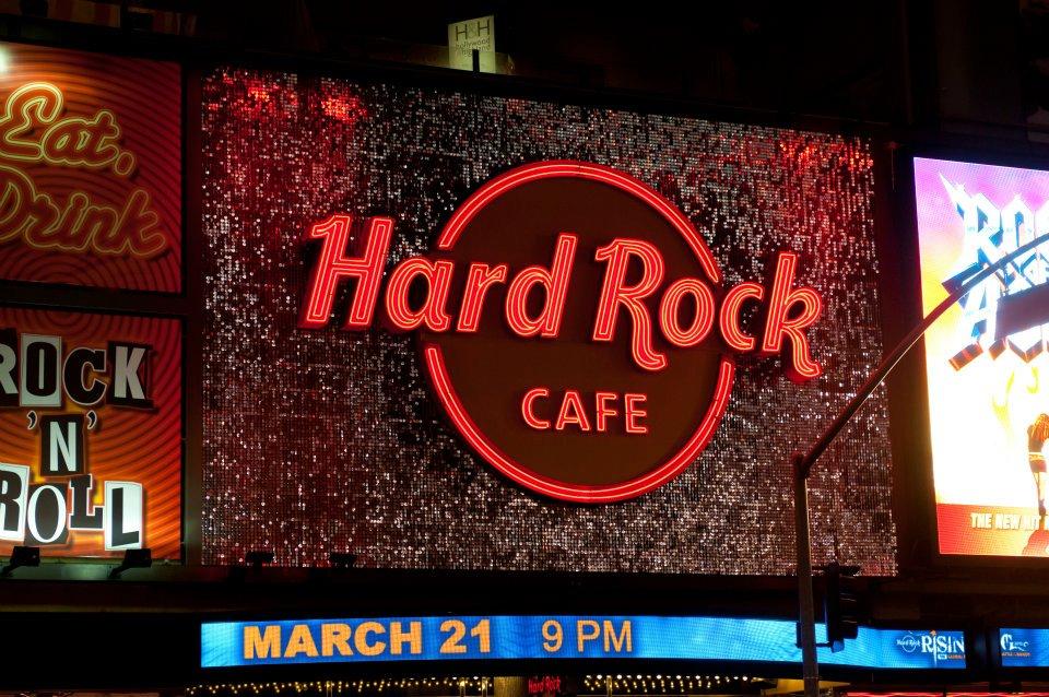 Hard Rock Cafe Los Angeles SolaRay Sign 5