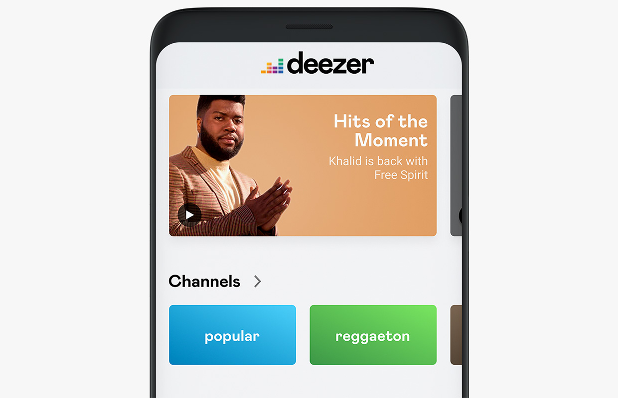 deezer new interface design