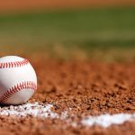 Baseball laying on ground