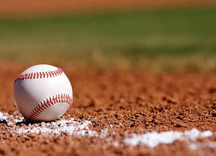Baseball laying on ground